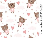 Seamless Teddy Bear Pattern...