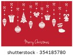 merry christmas greeting card.... | Shutterstock .eps vector #354185780