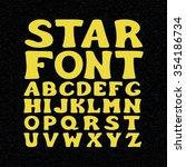 star font set. vector space... | Shutterstock .eps vector #354186734