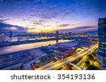 hong kong city sunset  view... | Shutterstock . vector #354193136