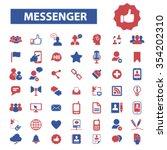 messenger connect ...   Shutterstock .eps vector #354202310