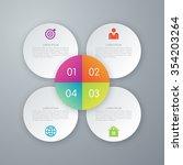 infographic design white... | Shutterstock .eps vector #354203264