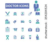 doctor  clinic  icons  signs... | Shutterstock .eps vector #354204524