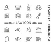 law icon set | Shutterstock .eps vector #354209153