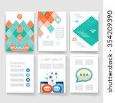 template. vector brochure... | Shutterstock .eps vector #354209390