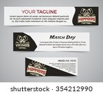 set of american football banner ... | Shutterstock .eps vector #354212990