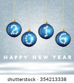 greeting message text happy new ... | Shutterstock .eps vector #354213338