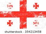 georgia grunge texture flag.... | Shutterstock .eps vector #354213458