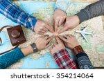 organization of group travel.... | Shutterstock . vector #354214064