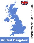 united kingdom map | Shutterstock . vector #354214088
