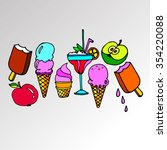 ice cone vector snack summer... | Shutterstock .eps vector #354220088