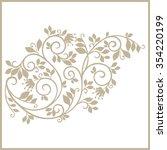 vintage stylized floral pattern.... | Shutterstock .eps vector #354220199