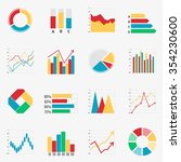 economy chart form elements of... | Shutterstock . vector #354230600