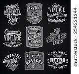 vintage retro labels black... | Shutterstock .eps vector #354231344