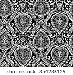 vector damask seamless... | Shutterstock .eps vector #354236129
