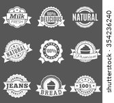 set quality labels on a gray... | Shutterstock .eps vector #354236240