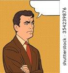 upset man and cloud pop art... | Shutterstock .eps vector #354239876