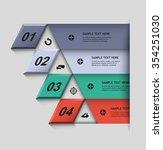 horizontal template business... | Shutterstock .eps vector #354251030