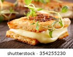 fresh toast with cheese and...   Shutterstock . vector #354255230