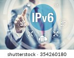 Small photo of New IPv6 Internet Protocol larger address space for connected devices on network.