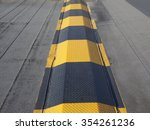 speed ramp hump in black and... | Shutterstock . vector #354261236