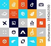flat logo template for... | Shutterstock . vector #354261530