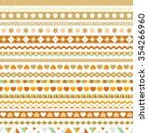 set of vector seamless ribbons  ... | Shutterstock .eps vector #354266960