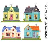 set of four vector illustration ... | Shutterstock .eps vector #354269744