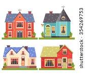 set of four vector illustration ... | Shutterstock .eps vector #354269753