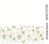seamless floral border with... | Shutterstock .eps vector #354272750