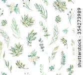 floral seamless pattern.... | Shutterstock . vector #354273989