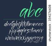 expressive calligraphic script. ... | Shutterstock .eps vector #354276608