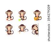 character monkey | Shutterstock . vector #354279209