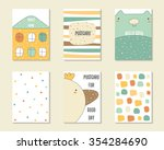 cute doodle birthday  party ... | Shutterstock .eps vector #354284690