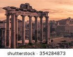 Rome  Italy Temple Of Saturn I...