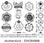 natural bio eco logotype... | Shutterstock .eps vector #354284888
