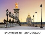 Beautiful Sunrise Pont Alexandre Iii - Fine Art prints