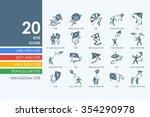 kite vector set of modern...   Shutterstock .eps vector #354290978