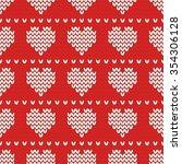tile knitting vector pattern... | Shutterstock .eps vector #354306128