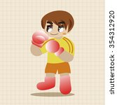 boxer theme elements vector eps | Shutterstock .eps vector #354312920