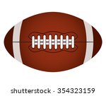 rugby ball  american football... | Shutterstock .eps vector #354323159