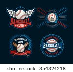 baseball badges set  sports... | Shutterstock .eps vector #354324218