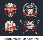 baseball badge logo design... | Shutterstock .eps vector #354324290