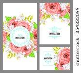 vintage delicate invitation... | Shutterstock .eps vector #354332099