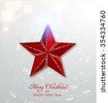 red christmas star  winter... | Shutterstock .eps vector #354334760