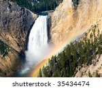 Morning Rainbow At Lower Falls...