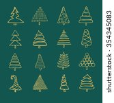 icons set of vector hand drawn... | Shutterstock .eps vector #354345083