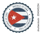 grunge rubber stamp with cuba... | Shutterstock .eps vector #354345254