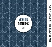 traditional japanese embroidery ... | Shutterstock .eps vector #354347150