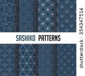 set of vector seamless pattern... | Shutterstock .eps vector #354347516
